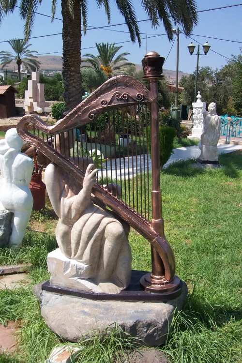 Playing the Harp by Shimon Drory