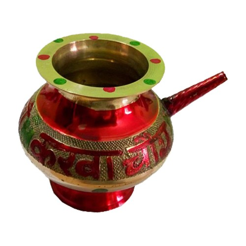 Elegant Handmade Red Pooja Karwa https://www.amazon.in/Salvus-App-SOLUTIONS-Elegant-Handmade/dp/B07H9F3Y7X/ Craftera offers an exclusive decorated handmade red Karwa.This karwa lota is a useful item for pooja. It is multipurpose pooja accessory for all religious festivals and occasions. This karwa lota made of a brass material with stunning design. It is useful in Karwachauth celebration as well. It is completely perfect pooja accessory for the worship of gods and divinity. This handmade traditional Karwa will definitely adorn all your holy seasons. The size of the karwa lota is 4 Inches. Red Pooja Karwa, Elegant Handmade Red Pooja Karwa